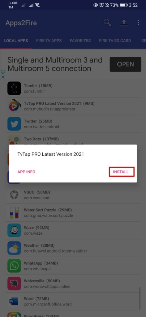 Installing Apps on your Firestick from Android Phone Step 19