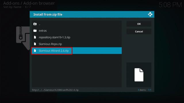 Step 13 Install Slamious Kodi Build