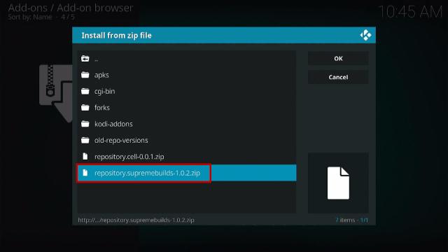 Step 13 Install Titanium Kodi Build