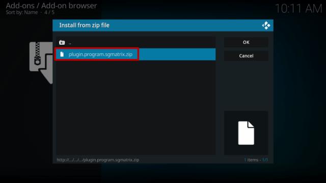 Step 13 Install Zilt Kodi Build