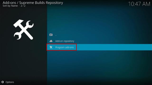 Step 16 Install Titanium Kodi Build