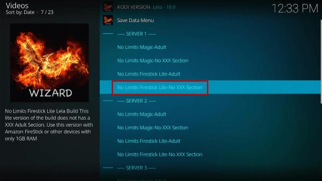 Step 17 Install No Limits Magic Kodi Build