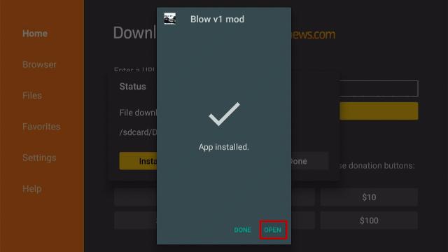 Step 18 Install the Blow TV App on Firestick