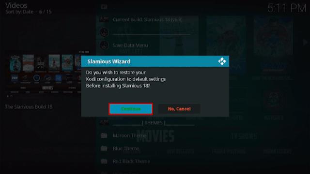 Step 20 Install Slamious Kodi Build
