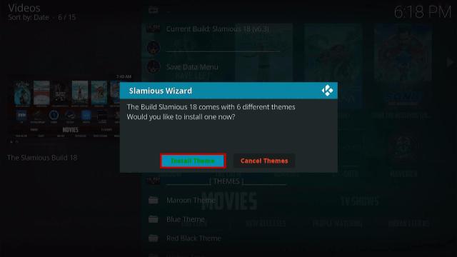 Step 22 Install Slamious Kodi Build