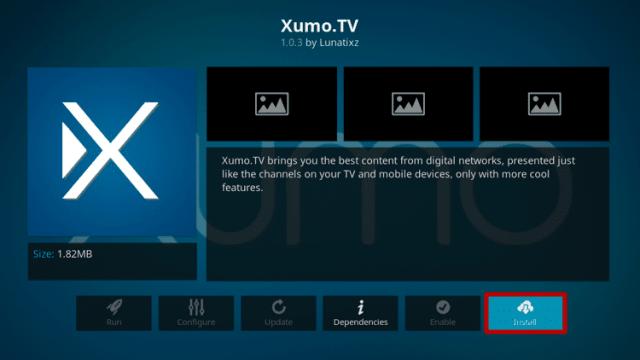 Install the XUMO TV Kodi Addon Step 6