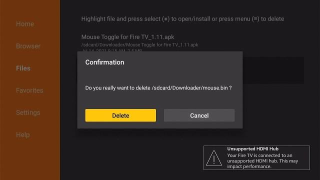 Empty your Downloader app's file storage 5