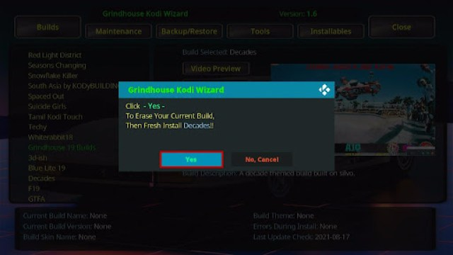 Install Decades Kodi Build 28