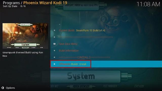 Install SteamPunk Kodi Build 29