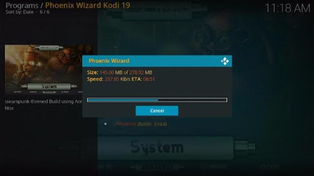 Install SteamPunk Kodi Build 31