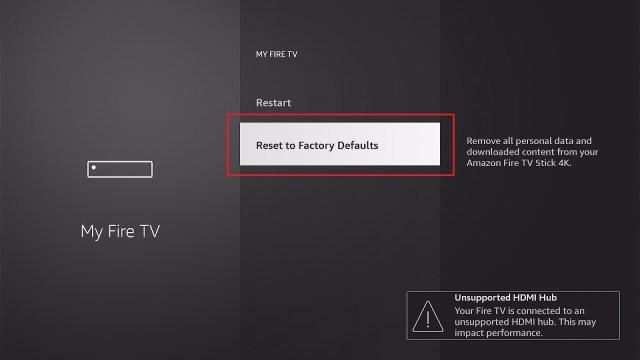 Perform a Factory Reset 4