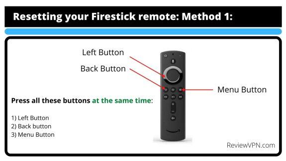 Reset Firestick Remote M-1