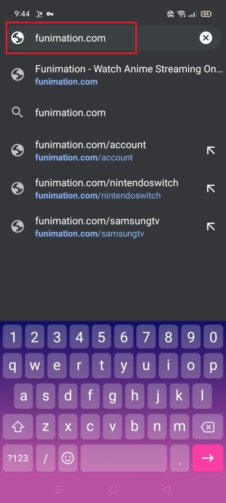 Stream the Funimation Website on your Android Device 2