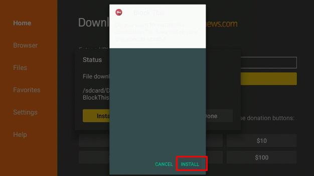 Block This install