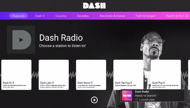 Dash Radio app