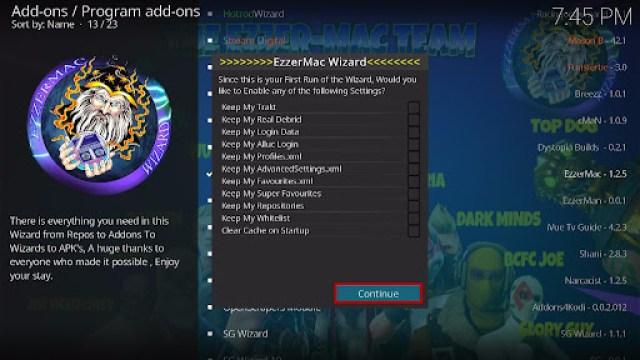 Install EzzerMacs Build on Kodi 22