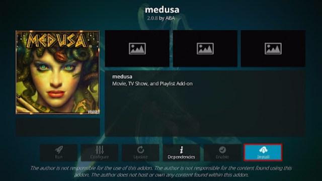 Install Medusa Kodi Addon 19