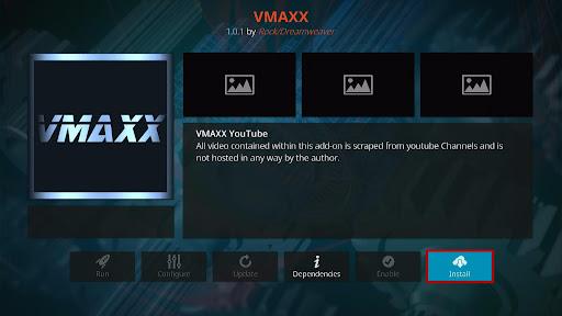 Install VMAXX Kodi Addon 19