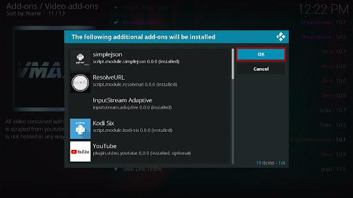 Install VMAXX Kodi Addon 20