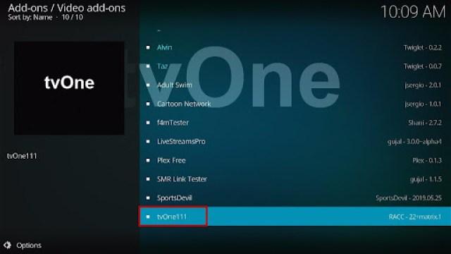 Install tvOne Kodi Addon 18