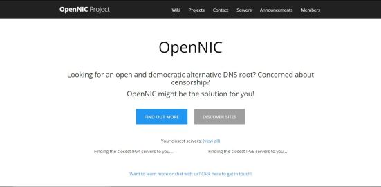 OpenNIC Project DNS 1