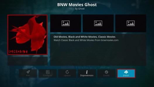 Install BNW Movies Ghost Kodi Addon 19