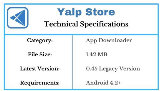 Yalp Store Specs 1
