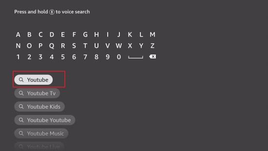 Install YouTube TV App on your Fire TV stick step 4