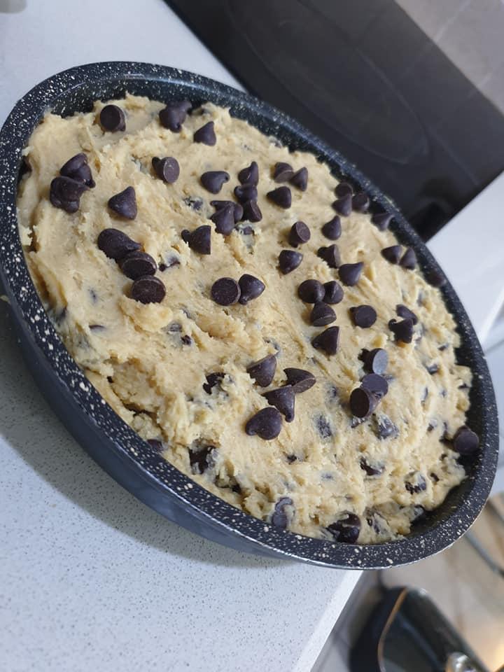 המשך הכנת העוגייה
