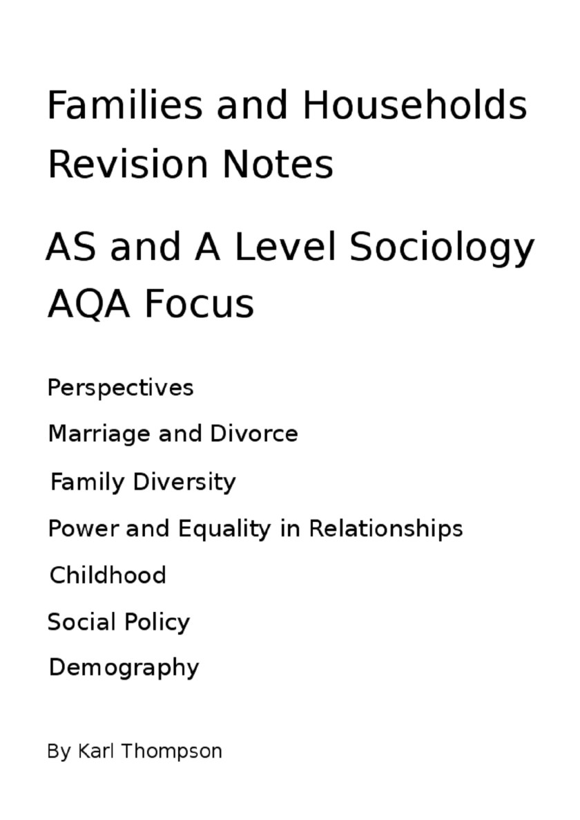 Sociology Revision Notes