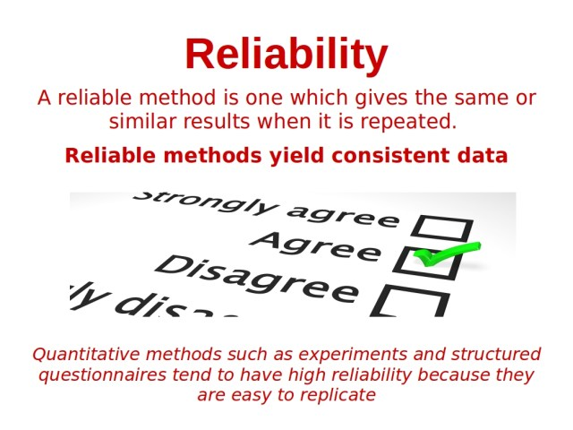 reliability sociology