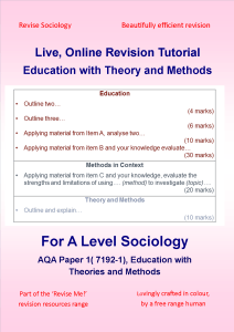 Online Revision Sociology Education