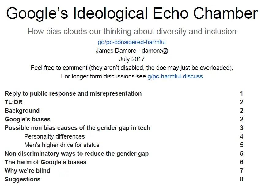 Google's Ideological Echo Chamber