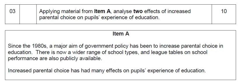 A-level-sociology-10-mark-question-parental-choice
