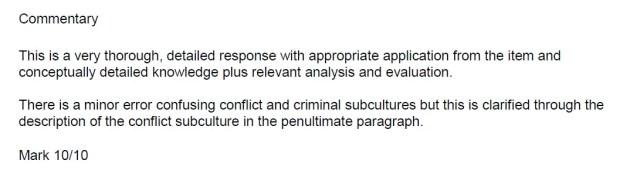 crime deviance 10 mark question comments