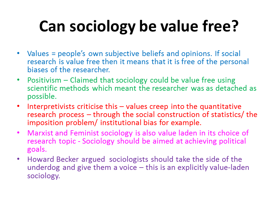 sociology value freedom