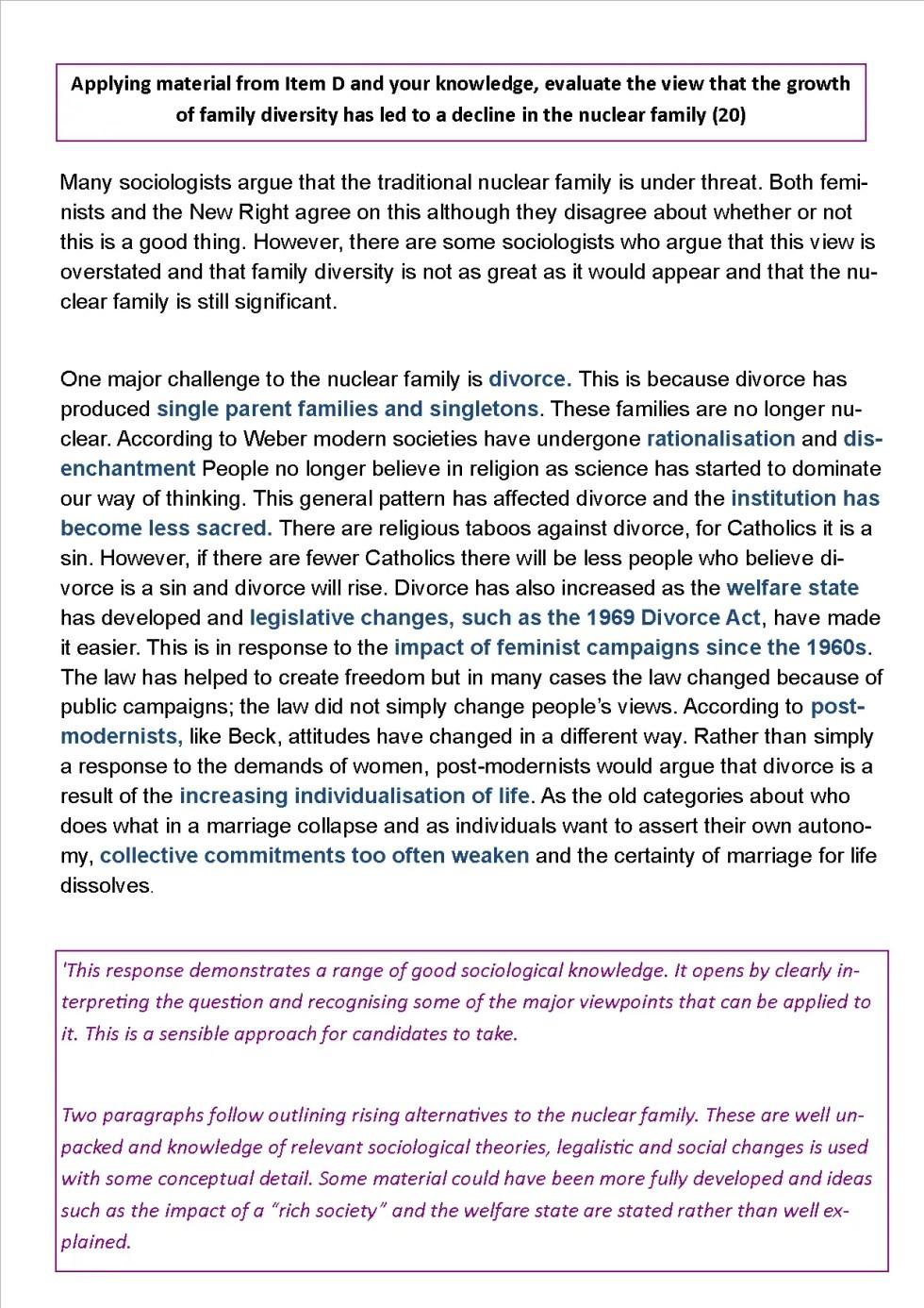 Family diversity essay 2018