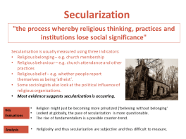 What is Secularization?