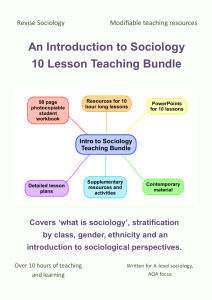 Sociology teaching resources