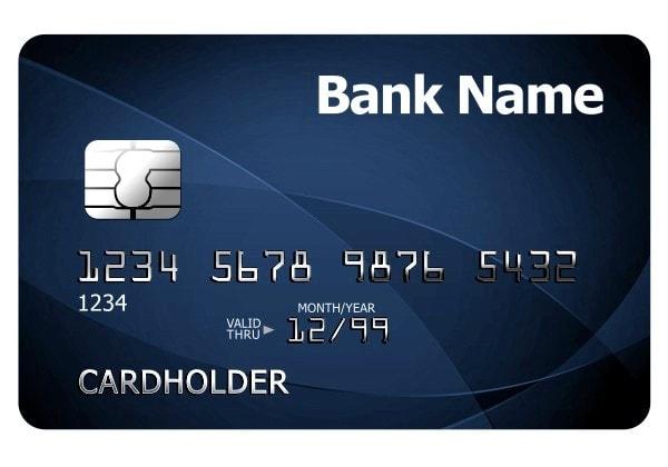 Details on a credit card. Image credit psdgraphics.com