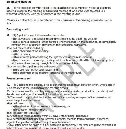 A page from a Memorandum of Association. Image credit coronetpublications.com