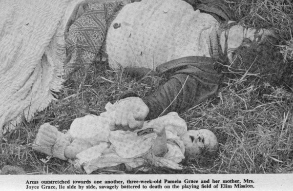 A murdered Missionary family in Nyanga. Image credit Sunday Mail June 23 1978