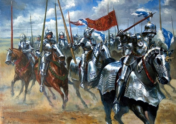A painting depicting a typical Portuguese army in the 16th century. Image credit paradoxplaza.com