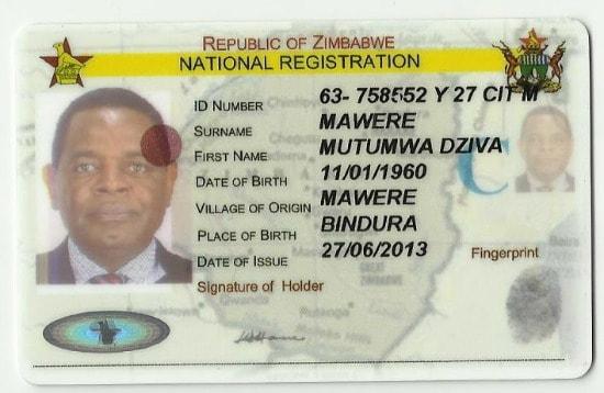 A Zimbabwean ID document. Image credit newzimbabwe.com