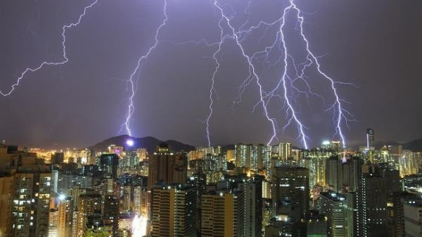 Lightning conductors in action. Image credit ask.com