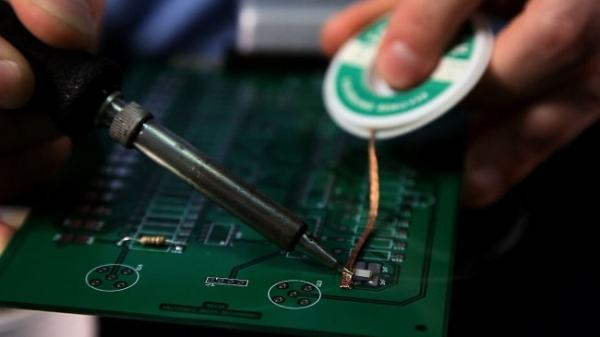 Soldering is often used in electronics. Image credit youtube.com
