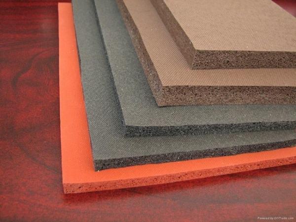 Sheets of made of sponge rubber. Image credit rollsheetrubber.com