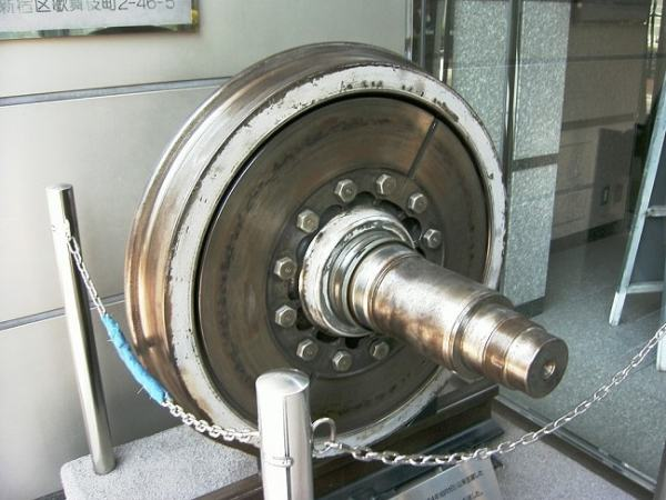 A wheel and axle. Image credit MediaWiki