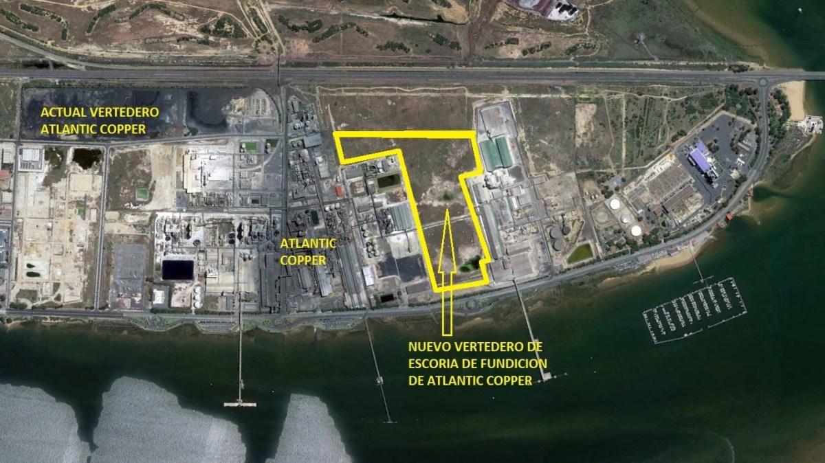 """Mesa de la Ría, convencida de que """"la ciudadanía impedirá que Atlantic Copper instale un nuevo vertedero de escoria industrial"""" con vistas a la Ria"""