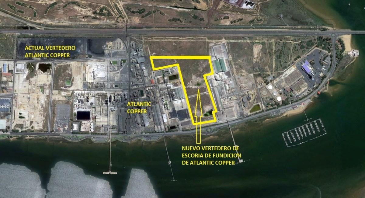 """Un nuevo vertedero de """"escoria industrial"""" para Atlantic Copper, avalado por el Puerto y con vistas a la Ría"""